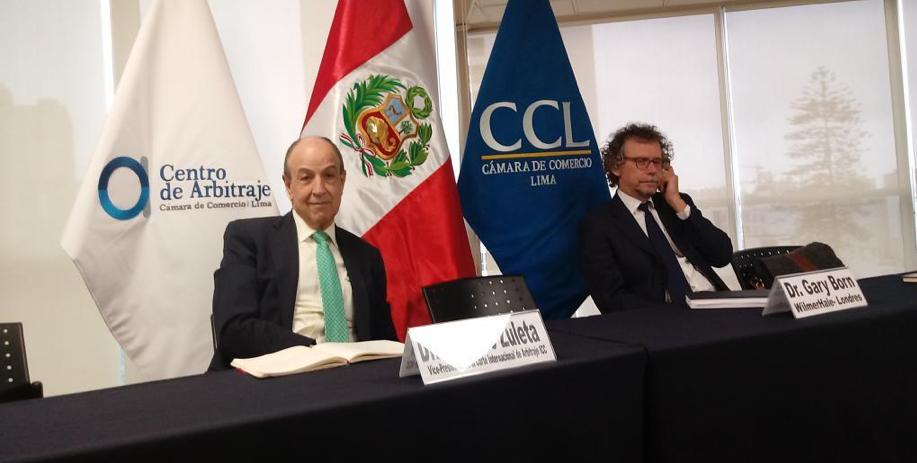 Eduardo Zuleta (Vice Chair, ITA and Vice President, ICC International Court of Arbitration, Zuleta Abogados, Bogotá) and Gary Born (Wilmer Hale, London)